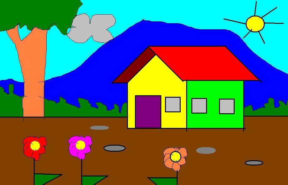 Karya Anak Dalam Lomba Tk Menggambar Di Komputer Argo Suseno S Blog